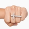 Cross over ring - silver in  accessories jewelry at nasty gal