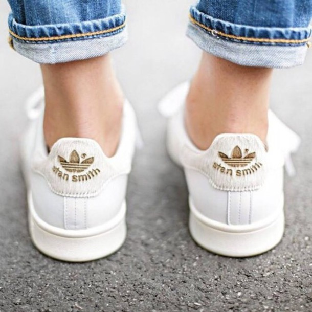 shoes boho stan smith gold shoes streetstyle hippie demin