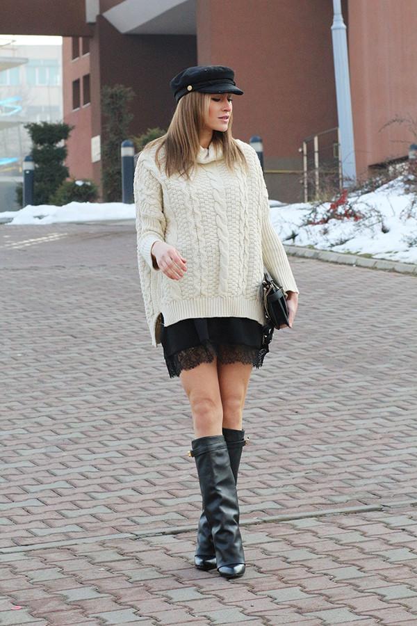 fashion spot sweater dress shoes