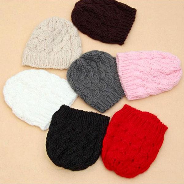 Fashion Lady Women Knit Crochet Hat Winter Warm Braided Baggy Beret Beanie Cap | eBay