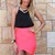 Pink Mini Skirt - Neon Pink Cross Over Bandage | UsTrendy
