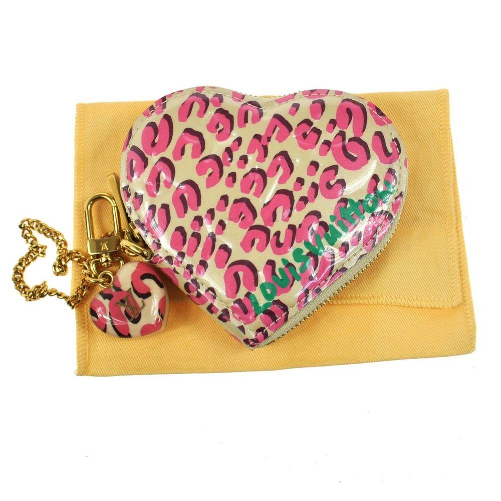Auth Louis Vuitton Leopard Heart Coin Purse Pi Patent Leather M91473 Good B21625 | eBay