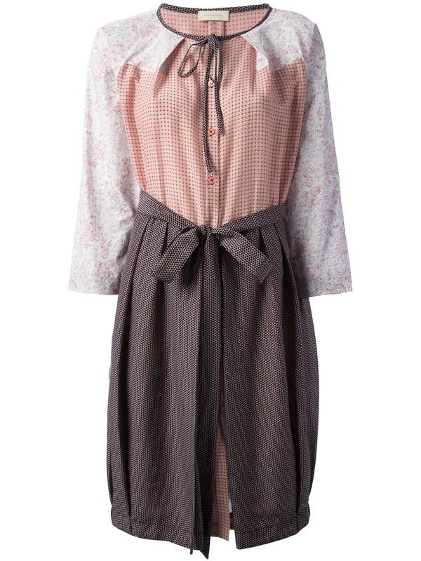 dress wunderkind print mix dress casual dress