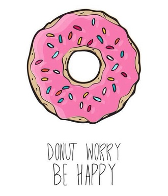 t-shirt donut worry