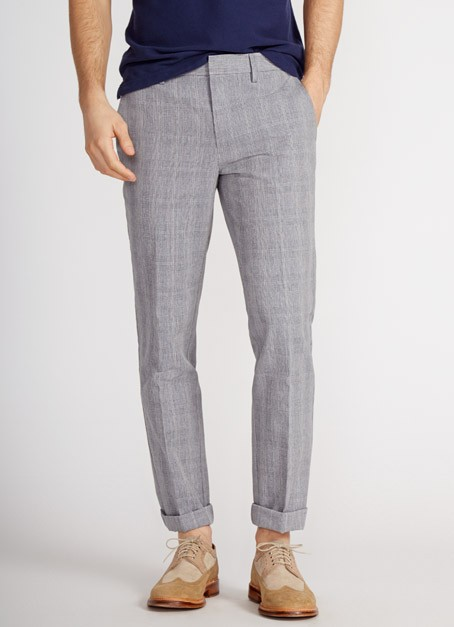 Dress Cotton Linen - Glen Plaid | Bonobos Yarn Dye Slim Glen Plaid Cotton Linen Dress Pants - Bonobos Men's Clothes - Pants, Shirts and Suits