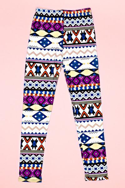 Colorful Aztec Childrens Leggings | uoionline.com: Women's Clothing Boutique