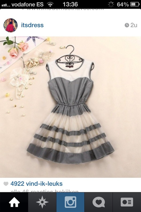 dress little black dress cute dress grey grey dress black white dress white b&w black and white black and white dress