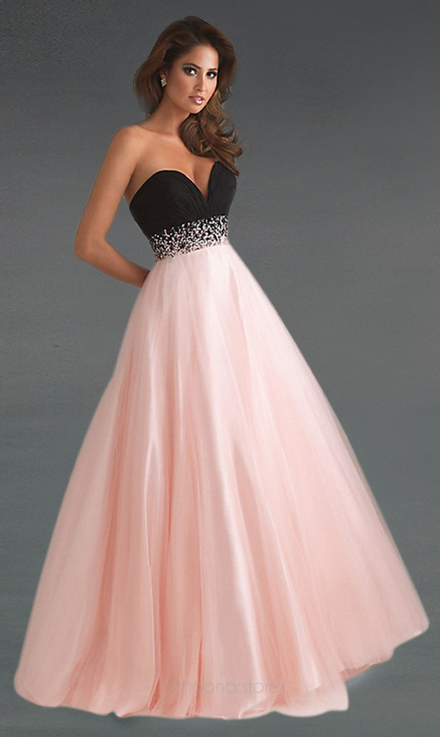 Free Shipping Custom made 2014 Hot Sale Sweetheart Patchwork Style A line Beaded Organza Prom Dress FBP093-in Prom Dresses from Apparel & Accessories on Aliexpress.com