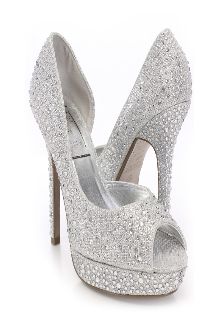 Silver Peep Toe Rhinestone Decor Pumps @ Amiclubwear Heel Shoes online store sales:Stiletto Heel Shoes,High Heel Pumps,Womens High Heel Shoes,Prom Shoes,Summer Shoes,Spring Shoes,Spool Heel,Womens Dress Shoes,Prom Heels,Prom Pumps,High Heel Sandals,Cheap