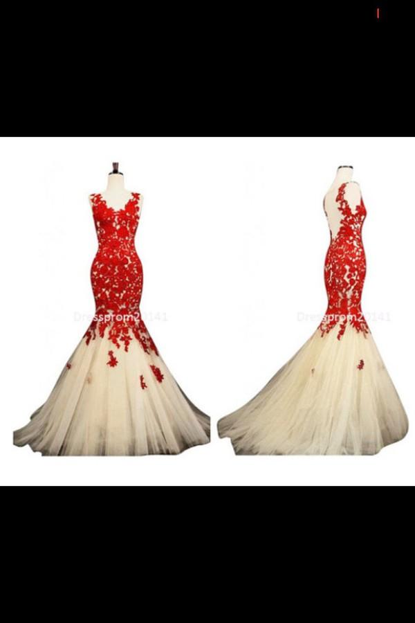 prom dress red prom dress dress red tan dress