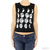 Moon Phases Cropped Tank Black|White / TheFashionMRKT