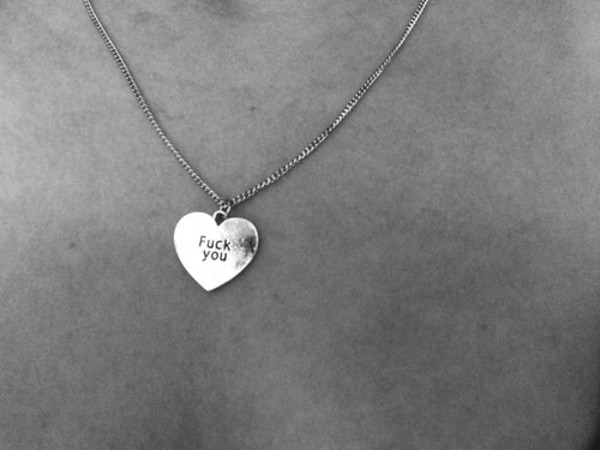 jewels necklace tumblr heart jewelry hipster black and white silver
