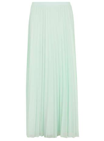Aqua Mesh Pleat Maxi Skirt - View All- Dorothy Perkins