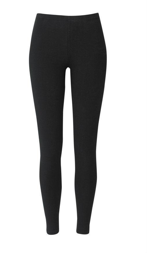 Leggings Full Length Plain Black Girls Ladies Womens Stretch Long Free Postage | eBay