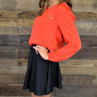 blouse valentine red blouse v neck zipper detail silky