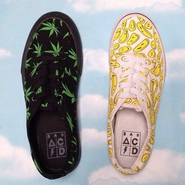 shoes weed weed smiley smiley
