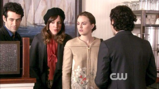 coat blair waldorf dress cream dress gossip girl serena van der woodsen dan humphrey perfect blue dress