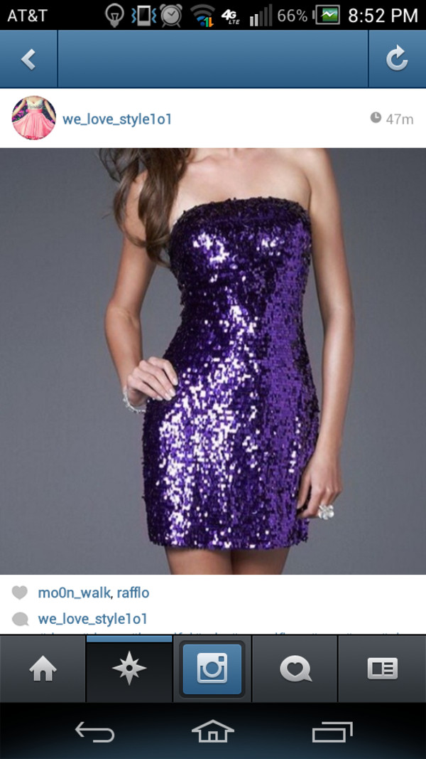 dress purple dress sequin dress