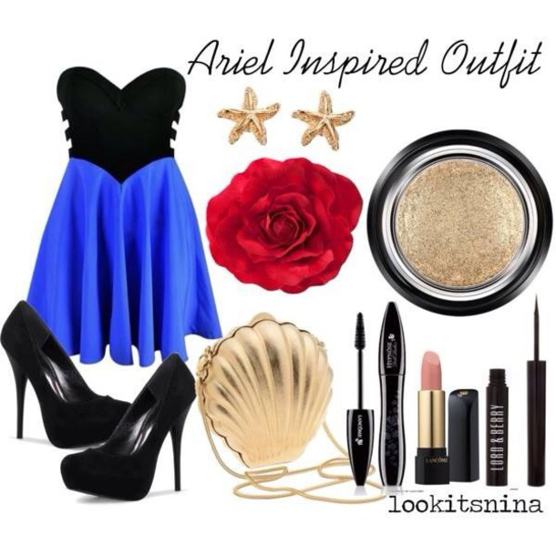 dress black dress blue dress bag