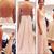 Sexy Chiffon Floor Length Spaghetti Straps V Neck Light Pink Open Back Prom Dress , Party Dresses, D on Luulla