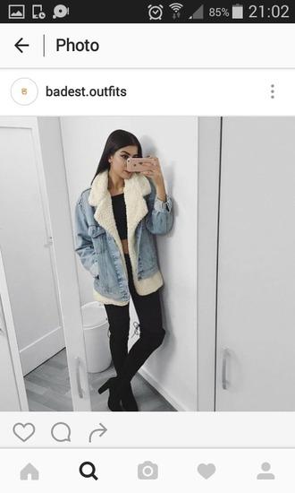 jacket jeans clear jean laine hiver snow winter outfits winter vest winter jacket instagram