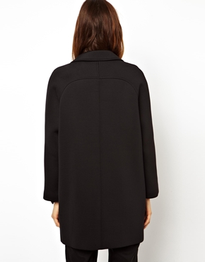 ASOS | ASOS Cocoon Coat In Scuba at ASOS