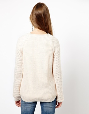 New Look   New Look Rolled Neck Stitch Raglan Sweater at ASOS