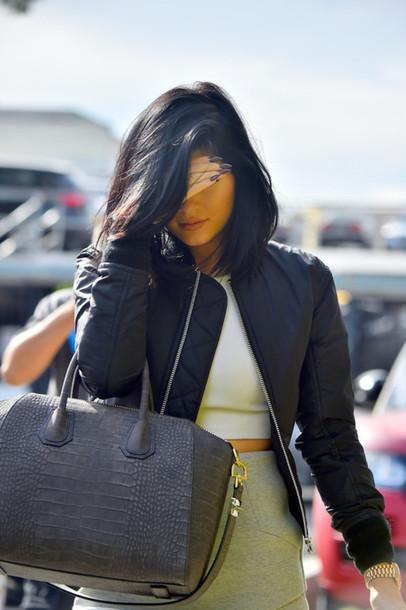 bag grey bag handbag kylie jenner
