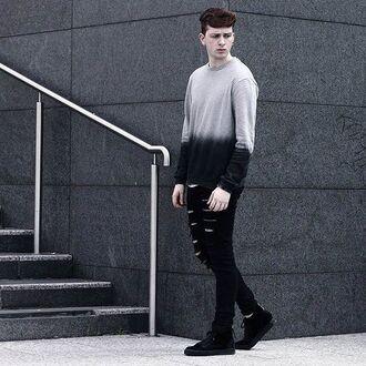 top maniere de voir sweater jumper dip dye ombre menswear