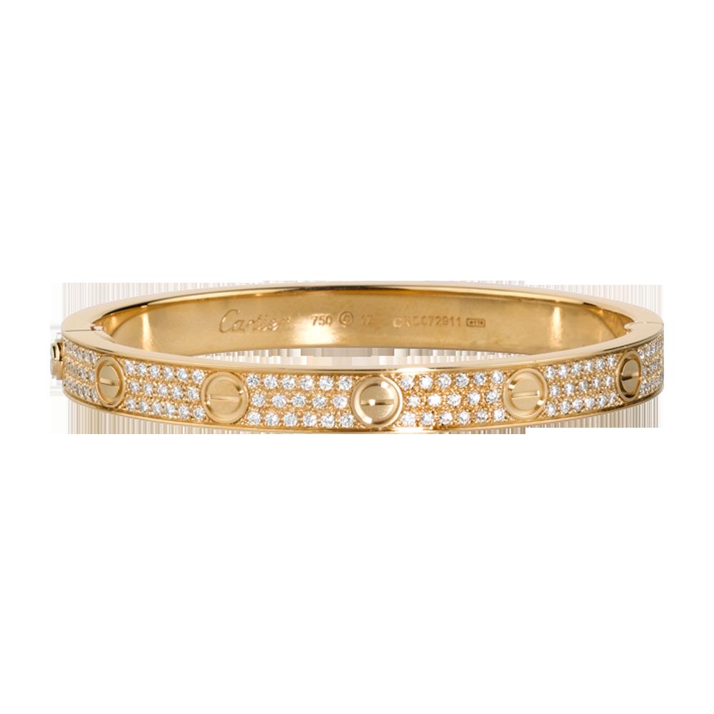 LOVE bracelet - Yellow gold, diamonds - Fine Bracelets for women -  Cartier