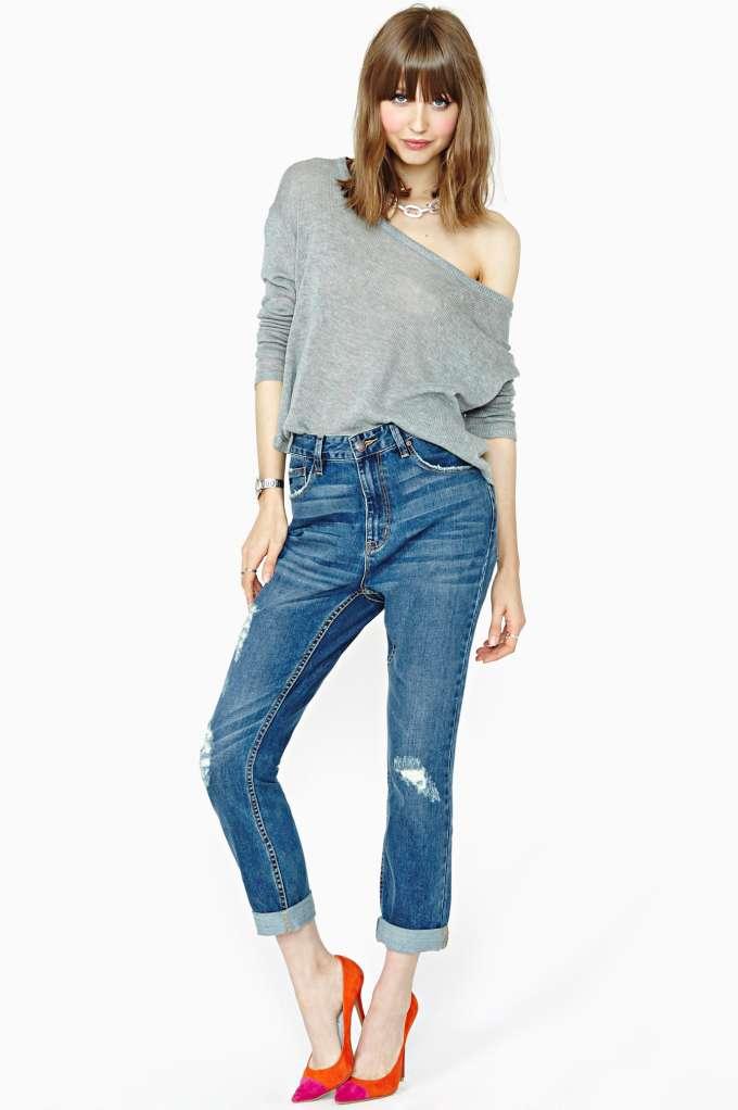 RES Denim Slacker Boyfriend Jeans at Nasty Gal