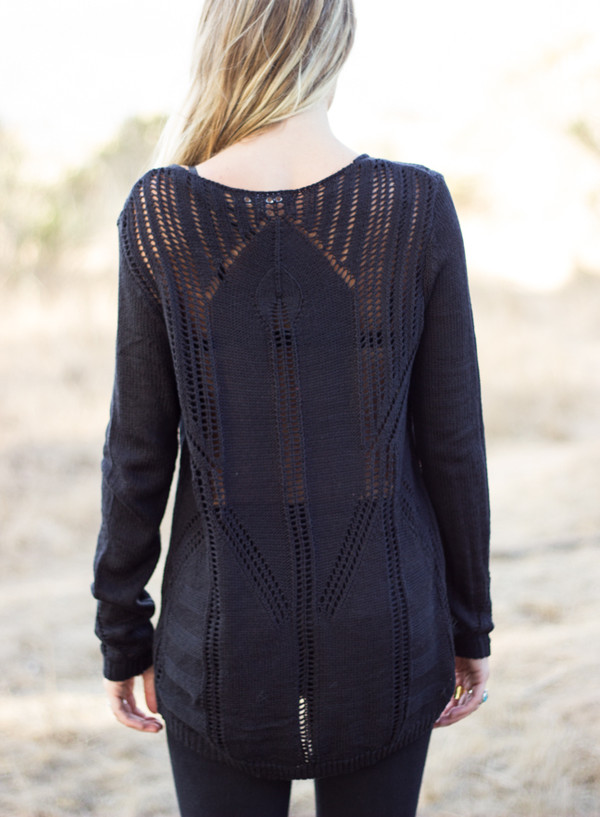 sweater soho black knit knitwear pullover shirt top