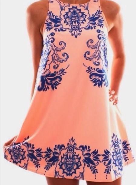 dress pattern high neck pink dress baroque dress summer dress