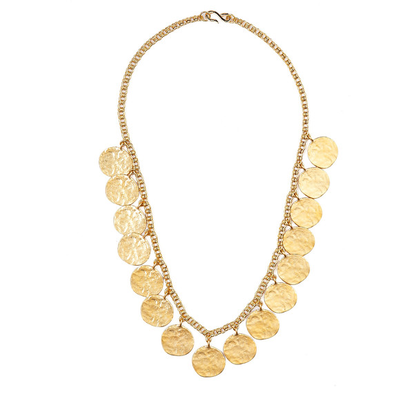 Kenneth Jay Lane Gold Coin Chain Necklace - Polyvore