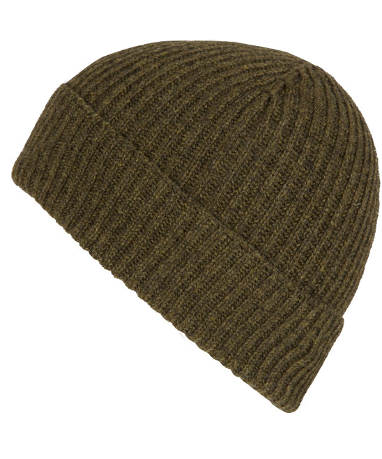 Johnstons of Elgin Green Cashmere Beanie Hat | Hats by Johnstons of Elgin | Liberty.co.uk
