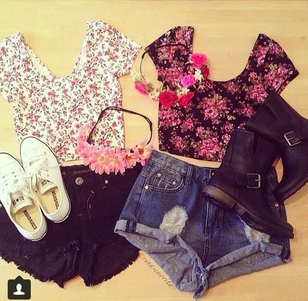 shorts shirt blouse