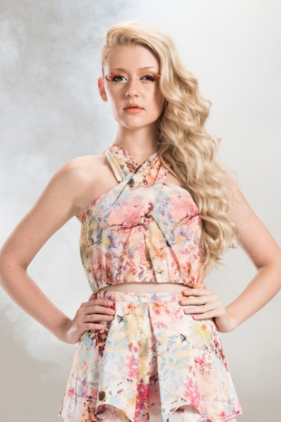 THEA by Thara - SUMMER 2013 - Butterfly Kisses Crop Blouse