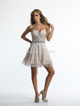 Aliexpress.com : Buy Custom Made Free Shipping Charming Sexy One Shoulder Lace Cpcktail Dresses Knee Length A line Bridal Gown 2014 New Arrival from Reliable gown ball dress suppliers on readdress