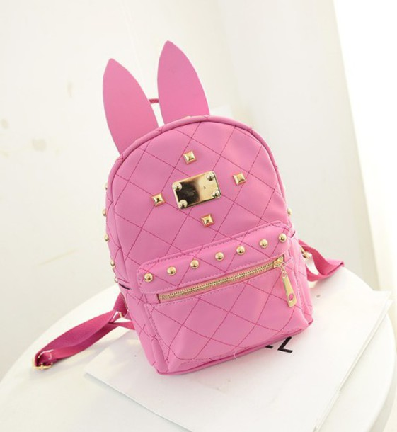 bag quilted backpack bunny fairy kei gyaru quilted bag