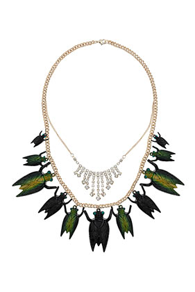 Metallic Bug Necklace - Jewellery  - Bags & Accessories  - Topshop