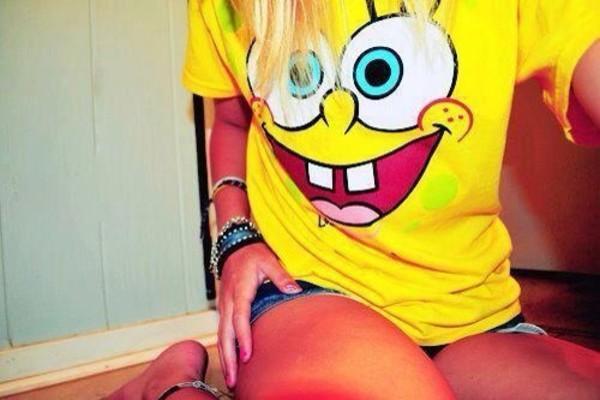 shirt spongebob yellow