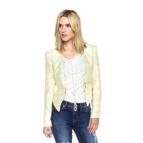 jacket sunshine chic yellow white crop makeup table vanity row dress to kill too cute trendy