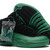 Men Suede Air Jordan 12 Dark Green and Black - NBA Sport Shoes -  Jordan 12 XII Mens