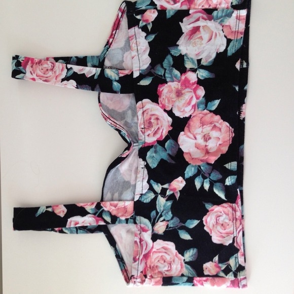 44% off Forever 21 Tops - Floral crop top from Courtney's closet on Poshmark