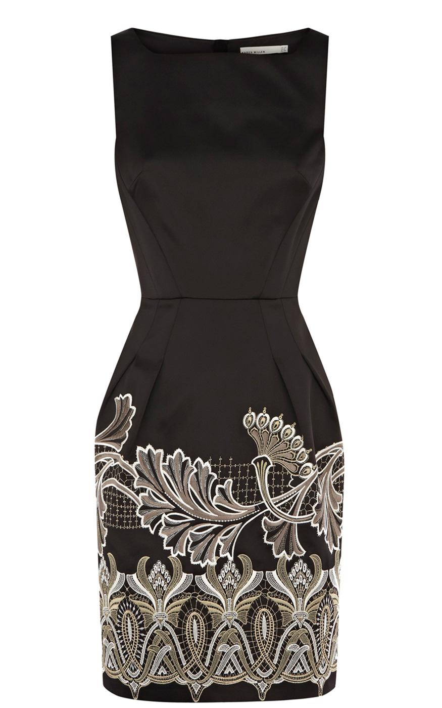 Black Day Dress - BLACK ORIENTAL EMBROIDERY DRESS | UsTrendy