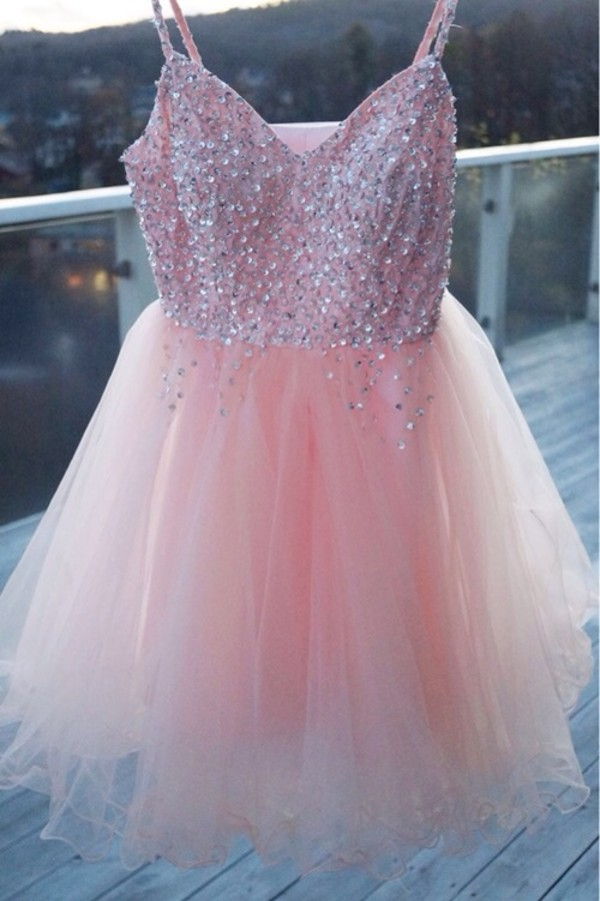 dress pink dress pink prom dress short prom dress sparkely prom dress