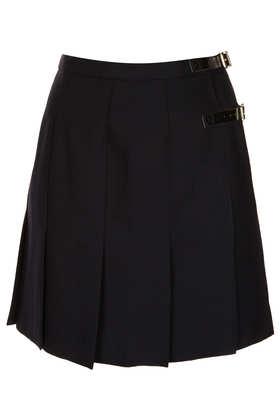 Navy Spliced Skirt - Skirts  - Clothing  - Topshop