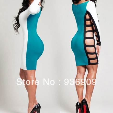 Women dress 2013 Fashion Sexy Bodycon Dress,Side Cut Outs Bandage dress, Soft Ribbed Stretch Dress Free Shipping 5066-in Dresses from Apparel & Accessories on Aliexpress.com