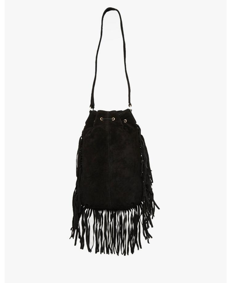 Ribbon Suede Pouch Bag | BANK Fashion