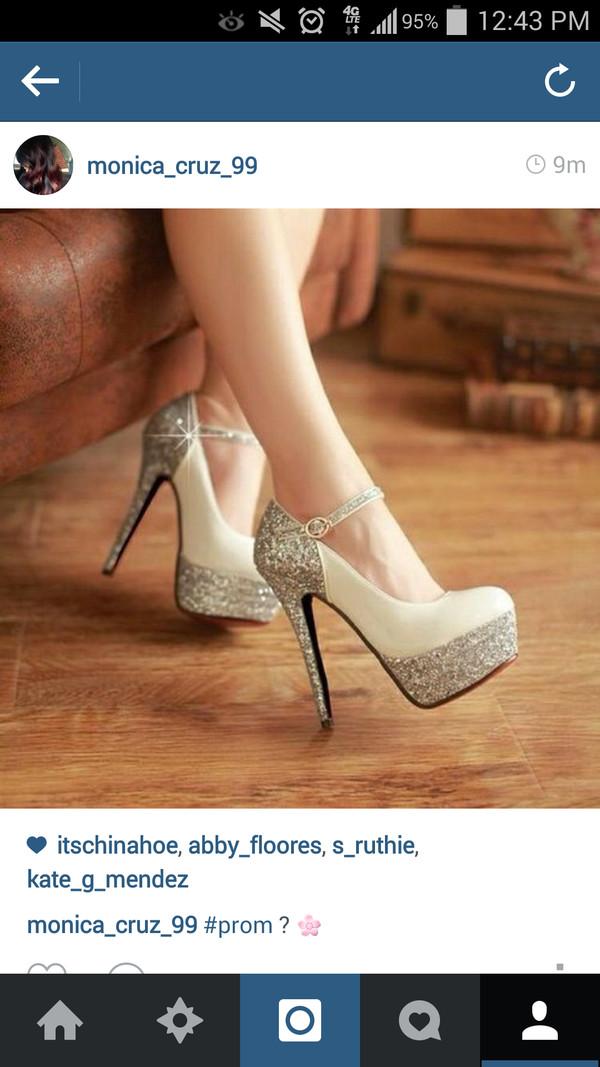 shoes sparkle high heels